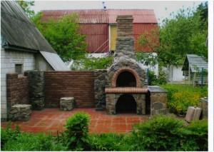 Садовый камин