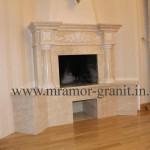 камин с резьбой из мрамора Diano Reale и Tassos